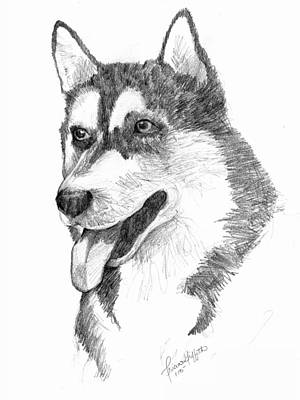 Siberian Husky Print by Tricia Griffith
