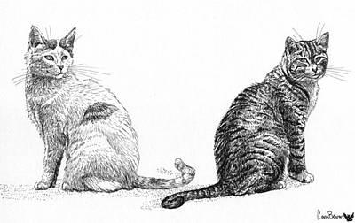 Siblings Print by Cara Bevan