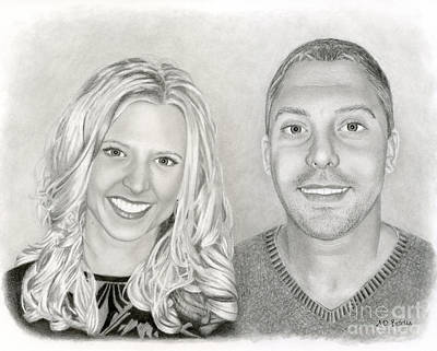 White Drawing - Siblings by Sarah Batalka