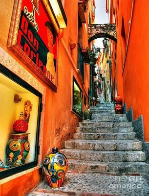 Sicilian Steps Print by Mel Steinhauer