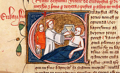 Sick Man Receiving Sacrament Print by British Library
