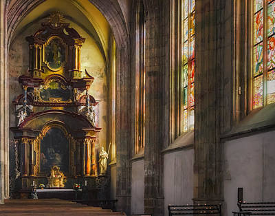 Side Chapel Of St Barbara Print by Joan Carroll