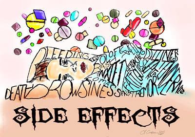 Bipolar Digital Art - Side Effects by LaShanna  Cooper
