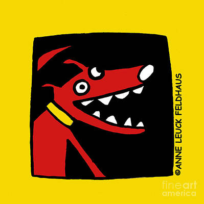 Black Lab Puppy Painting - Sidnee The Talking Dog by Anne Leuck Feldhaus
