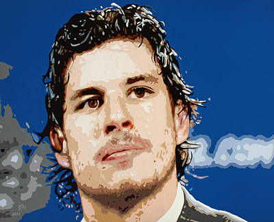 Winter Sports Painting - Sidney Crosby by Dennis Nadeau
