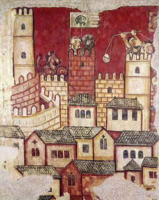 Rooftops Painting - Siege Of Majorca, 1229 by Granger