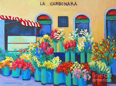 Sienna Flower Market Original by Sharon Nelson-Bianco