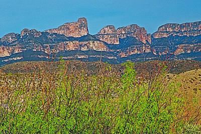 Del Rio Digital Art - Sierra Del Carmen From Big Bend National Park-texas  by Ruth Hager