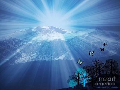 High Sierra Digital Art - Sierra Radiance by Bobbee Rickard