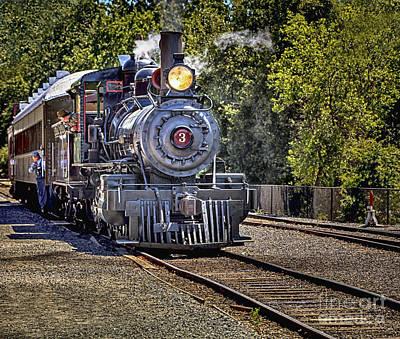 Train Photograph - Sierra Railroad Engine #3 by David Millenheft
