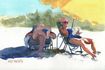 Umbrella Painting - Siesta by Kris Parins