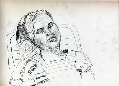 Whistler Drawing - Siesta Time by Whistler Kenworthy