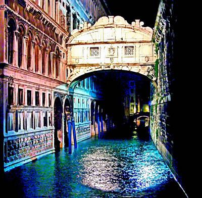 Baroque Mixed Media - Sigh In Venice by Georgiana Romanovna