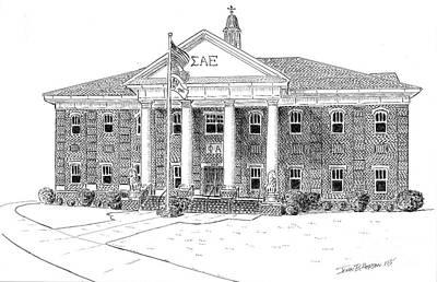 Sigma Alpha Epsilon House Print by John Hopson