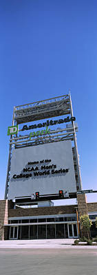 Omaha Photograph - Sign Board At A Convention Center by Panoramic Images