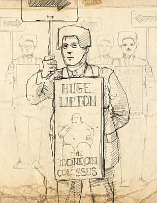 Sign Men Print by H James Hoff