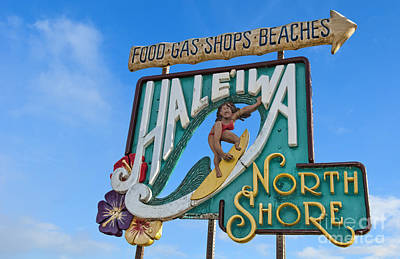 Haleiwa Photograph - Sign Of Relaxed Town Haleiwa, Oahu by Bill Bachmann