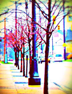 Mercy Drawing - Sign Of Spring On Our Street by Rosemarie E Seppala