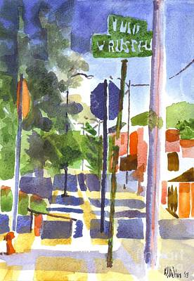 Arcadia Valley Painting - Sign Posts by Kip DeVore