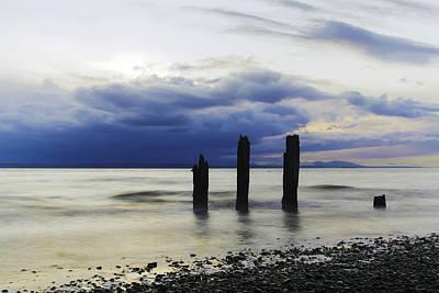 Sunset Photograph - Signal Bars by Michael DeMello