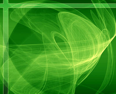 Signal In Green Print by Modern Art Prints