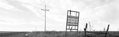 Telephone Poles Photograph - Signboard In The Field, Manhattan by Panoramic Images