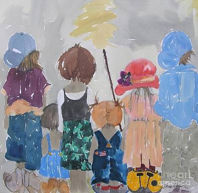 Baseball Cap Painting - Significant Relationships by Vicki Aisner Porter