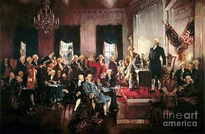 Pd Painting - Signing Of The United States Constitution by Pg Reproductions