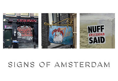 Punk Rock Music Photograph - Signs Of Amsterdam by Teresa Mucha