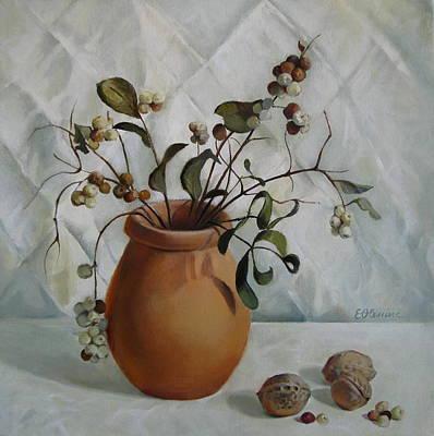 Ceramics Painting - Signs Of Autumn by Elena Oleniuc