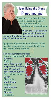 Signs Of Pneumonia Print by Cmsp