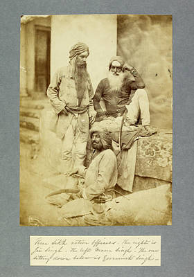 Sikh Native Officers Print by British Library