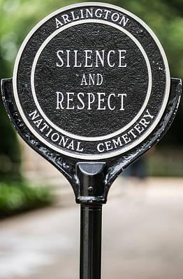 Arlington Photograph - Silence And Respect by Steve Gadomski