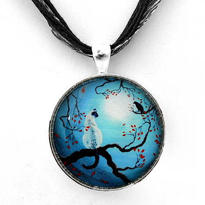 Wiccan Jewelry - Silent Connection Pendant by Laura Iverson