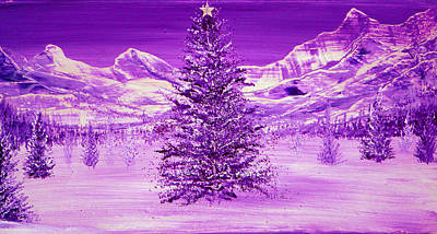 Acrylic Painting - Silent Night by Ann Marie Bone