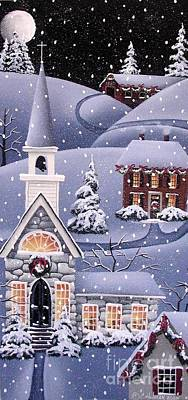 Covered Bridge Painting - Silent Night by Catherine Holman
