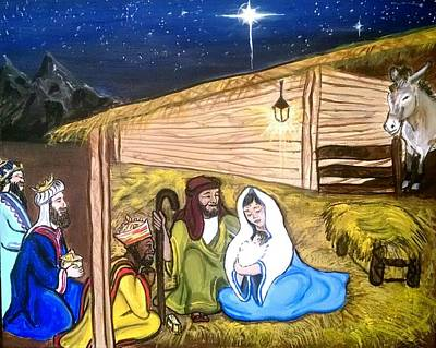 Silent Night Print by Lawrence Saunders
