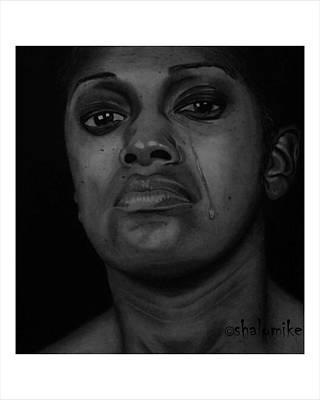 Silent Tears Print by Barnabas Adeleke