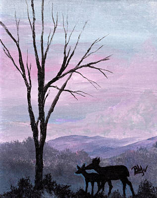Silhouette Of Love Print by Barbara Willms