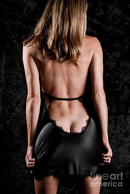 Silk Black Nighty Print by Jt PhotoDesign