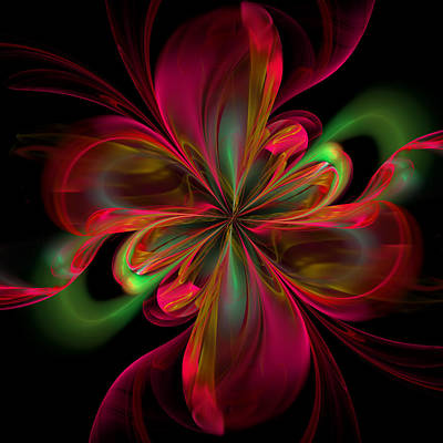 Red Abstract Digital Art - Silk Butterfly Abstract by Georgiana Romanovna
