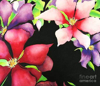 Clematis Painting - Silk Clelmatis by Kaye Miller-Dewing