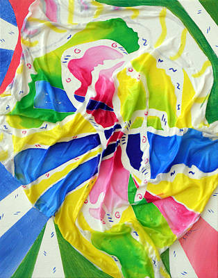 Silk Color Whirl Print by Sandra Fox