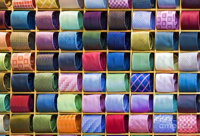 Silk Neckties Print by Sheldon Kralstein