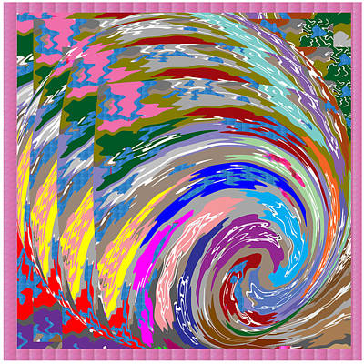 Royalty Free Images Painting - Colorful Fineart Silken Spiral Waves Pattern Decorative Art By Navinjoshi At Fineartamerica.com by Navin Joshi