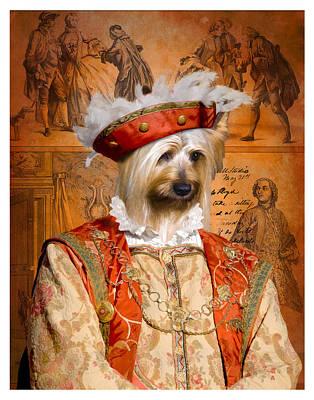 Silky Terrier Painting - Silky Terrier Art Canvas Print - Duc by Sandra Sij