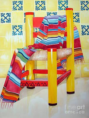 Kitchen Chair Painting - Silla De La Cocina--kitchen Chair by Kandyce Waltensperger
