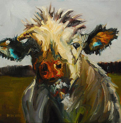 Painting - Silly Cow by Diane Whitehead