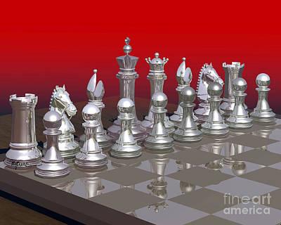 Chess Photograph - Silver Brigade Chess by Lori Lejeune
