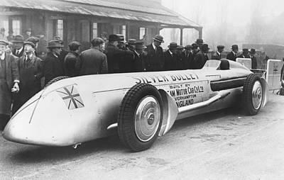 Kaye Photograph - Silver Bullet Race Car by Underwood Archives